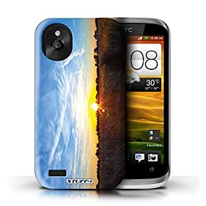 KOBALT? Protective Hard Back Phone Case / Cover for HTC Desire X | Blue Sky Design | Sunset Scenery Collection