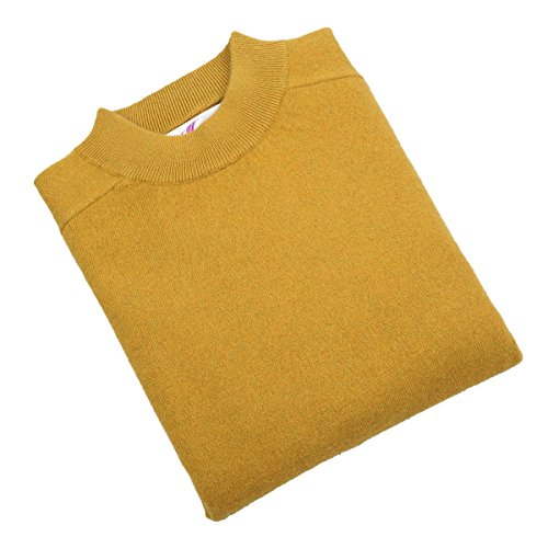 Zhili Men's Turtleneck Sweater Cashmere S (Gold Turtleneck Sweater)