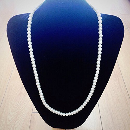 Long Faux White Pearl Necklace Set (7mm X 5mm ) Can Use As Diy Jewelry , Table Setting , Wedding Accessory - Faux Strand Necklace