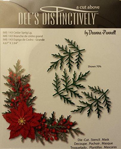 Dee's Distinctively Die Cedar Sprig Lg. by Dee's Distinctively Dies