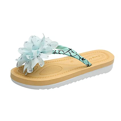 7347e68af73a7 Amazon.com  Summer Women s Slippers Casual Flat Flower Flip-Flops Fashion  Ladies  Shoes  Home Audio   Theater