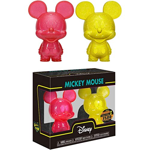 Mickey Mouse [Red & Yellow]: Funk o Hikari XS Vinyl Figure & 1 Classic Trading Card Bundle (21957)