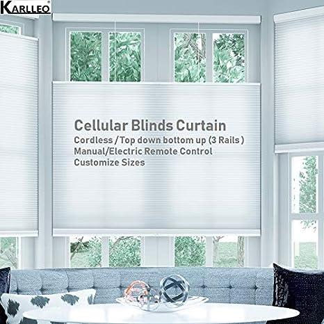 Amazon Com Manual Motorized Window Cellular Honeycomb