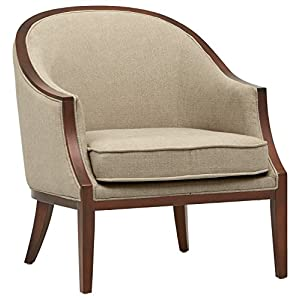 "Amazon Brand – Stone & Beam Ashbury Modern Exposed Wood Accent Chair, 29""W, Hemp"