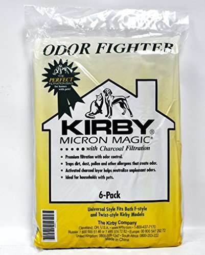 Kirby Micron Magic Odor Fight F Style Vacuum Bags 6 Pack 202916 by Kirby