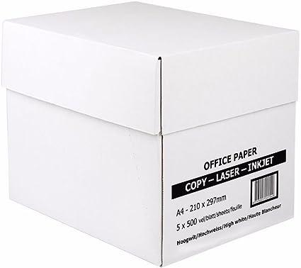 5000 Blatt A4 Kopierpapier weiß 80g//m² für Kopierer Fax Tinten und Laserdrucker