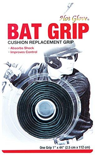 (Hot Glove Black Cushion 1.75mm Bat Grip, Black)