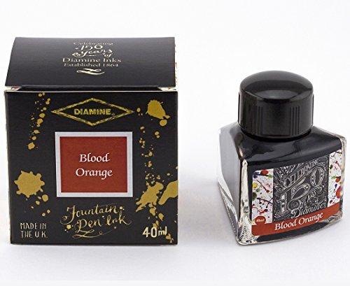 Diamine 40ml Blood Orange Fountain Pen Ink - 150 Year Anniversary Edition -