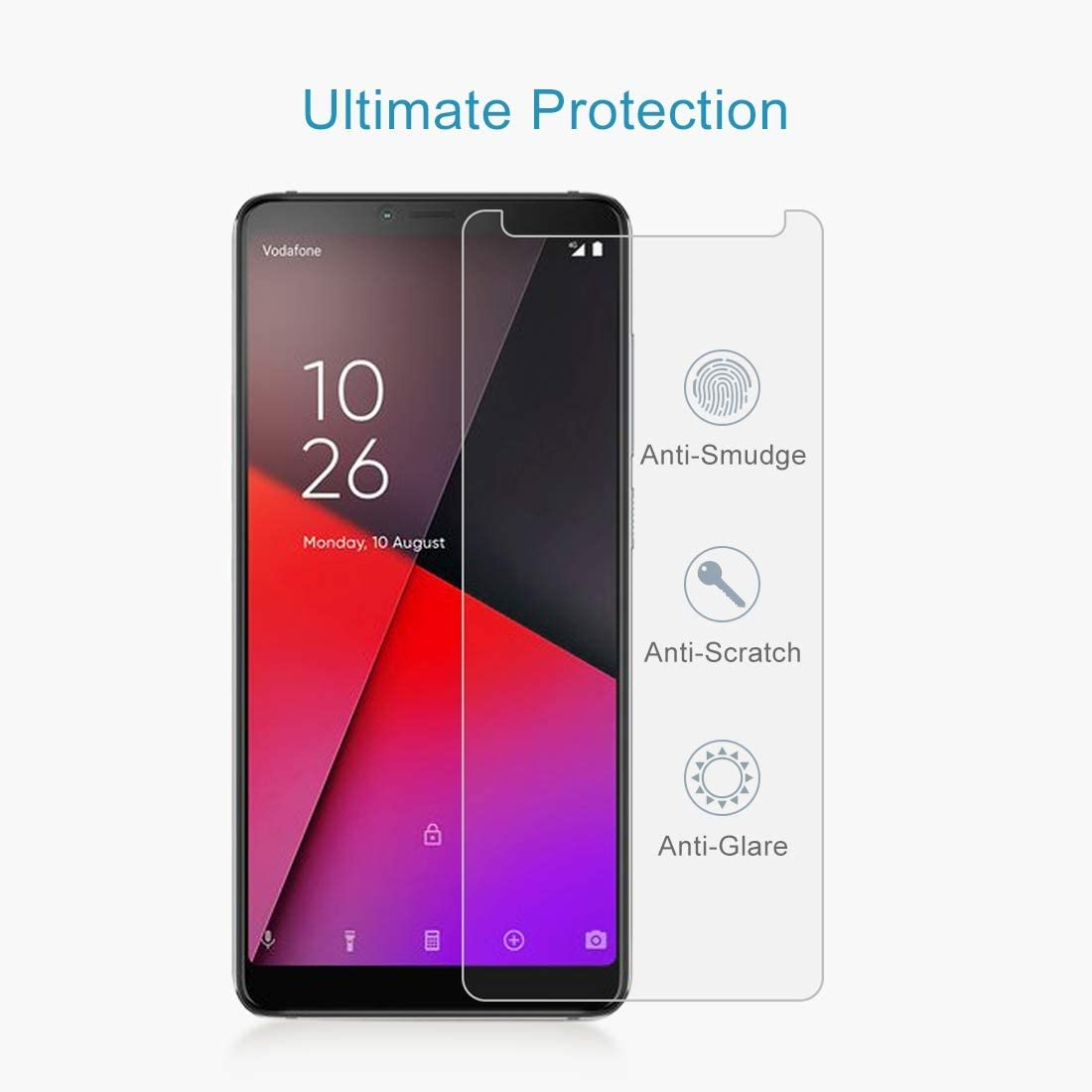 Wangl Mobile Phone Tempered Glass Film 100 PCS 0.26mm 9H 2.5D Explosion-Proof Tempered Glass Film for Vodafone Smart X9 Tempered Glass Film