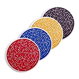 Kikkerland Roll A Coasters, Set of 4