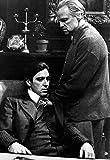 The Godfather Poster, Vito and Michael Corleone, Father and Son, Italian, Gangster, Mafia, Al Pacino, Marlon Brando