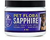 Probiotics for Dogs and Cats Powder All Natural Vitamin Mineral Supplement Relieves Skin Allergies, Itching, Diarrhea – Improves Digestive Health – 6 oz