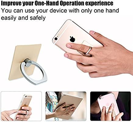 2 Pack Phone Ring Stand Holder CaseHQ 360 Degree Rotation Reusable Holder Finger Grip Universal Kickstand for iPhone X 6 6s 7 7 Plus 8 Galaxy S9 S9plus S8 S7 Silver+Gold Removable Washable