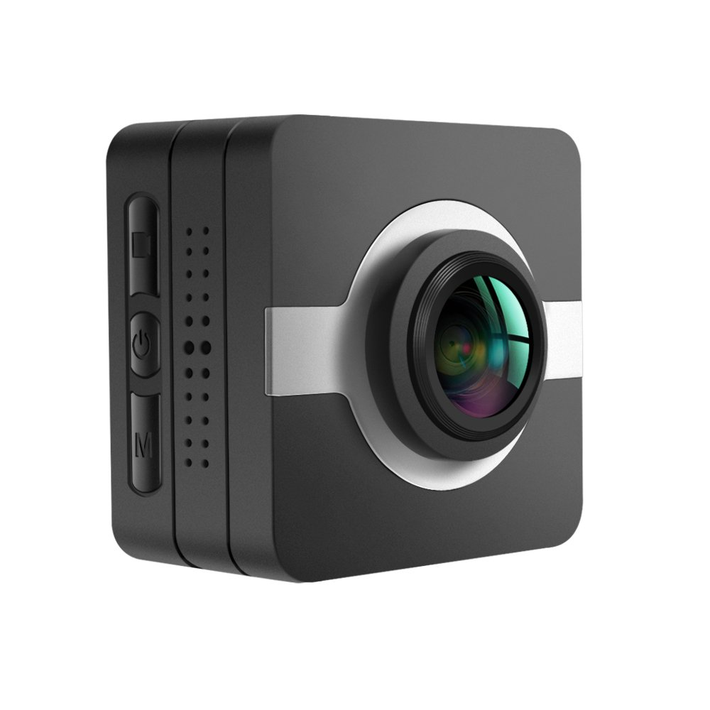 MATECam アクションカメラ スポーツカメラ4K WIFI対応 1808P 1600万画素 画像安定化 FullHD 30M防水カメラ 豊富な付属品が揃って 空撮やスポーツに最適 バイク/自転車/カート/車に取り付け可能  OV4689センサーが搭載 B01N0EJS3I シルバー 標準版 シルバー 標準版