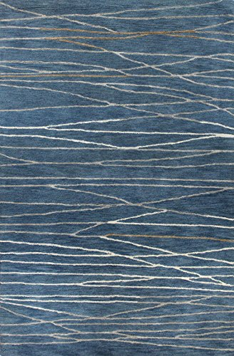 Bashian Greenwich HG238 Collection Hand Tufted Wool & Viscose Area Rug, 8.6' x 11.6', Azure