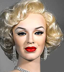 Hot Sale!!Wigiss Newfangled Marilyn Monroe Sexy Short Curly Wig 100% Kanekalon Fiber Synthetic Women Wig + Wig Cap Fashion Golden Blonde