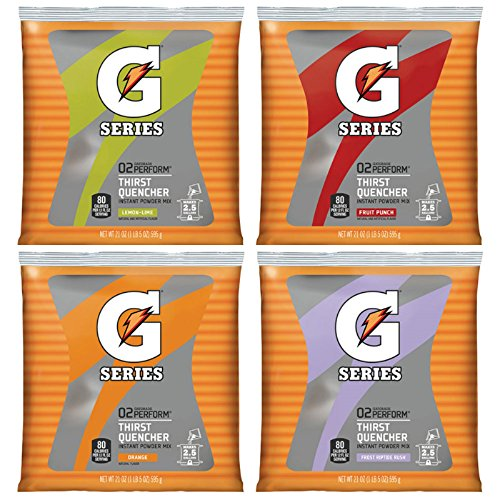 - Gatorade 21 Ounce Instant Powder Pouch - Yields 2.5 Liquid Gallons (32 Packages)
