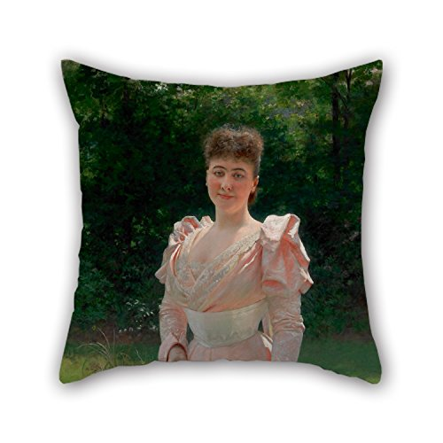 oil-painting-vlaho-bukovac-mrs-richard-le-doux-cushion-cases-18-x-18-inches-45-by-45-cm-best-choice-