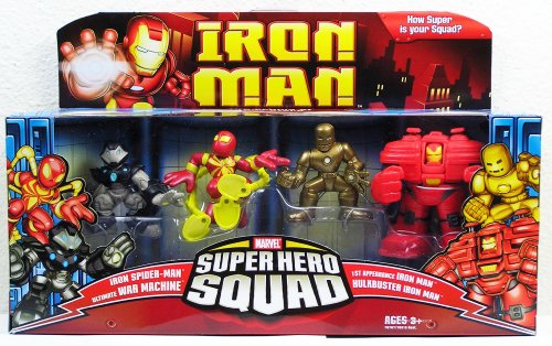 - Iron Man Movie Toy Super Hero Squad Battle Pack Genius of Tony Stark