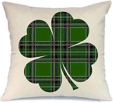 Amazon.com: AENEY St Patricks - Funda de almohada para sofá ...
