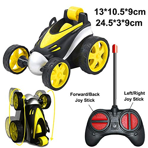RC Cars, LGUIY Kids Toys Remote Control Car Stunt Car Vehicle High Speed 360 Degree Rotation Flip Racing Car Upright Driving Christmas Birthday Gifts Gadgets Toys for Boys Girls (Yellow)