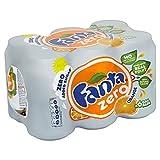 Fanta Orange Zero Added Sugar (6x330ml) - Pack of 2