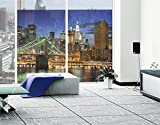 Window Mural Manhattan Panorama window sticker window film window tattoo glass sticker window art window décor window decoration Size: 56.7 x 75.6 inches