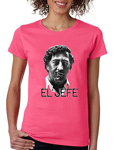 Allntrends Women's T Shirt Pablo Escobar Face Cool Stuff Popular Shirt (S, Safety (Funny Halloween Safety Slogans)