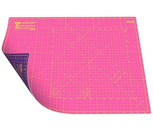 Ansio, tappetino da taglio autorigenerante a doppia facciata, 5strati imperiale/metrico 40,6x 55,9cm/43cm x 58cm–Super Rosa/Viola Royal