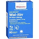 Wal-Itin Non-Drowsy 24 Hour Allergy Relief Tablets - 3PC