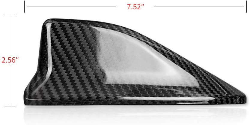 Carbon Fiber AIRSPEED Car Shark Fin Antenna Cover Trim Mouldings for Subaru BRZ Accessories
