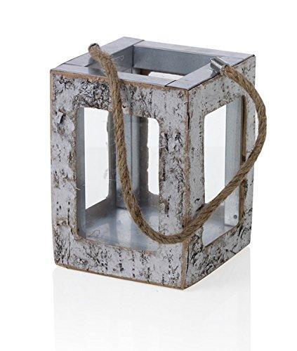 Brandani lanterna betulla legno/vetro, multicolore, taglia unica Brandani Gift Group  S.a.s Brandani_54479