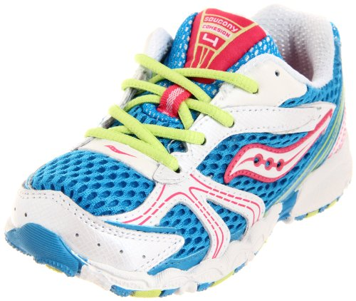 Saucony Cohesion 4 Lace Running Shoe (Toddler/Little Kid/Big Kid), Scuba/W, 7.5 W US Toddler