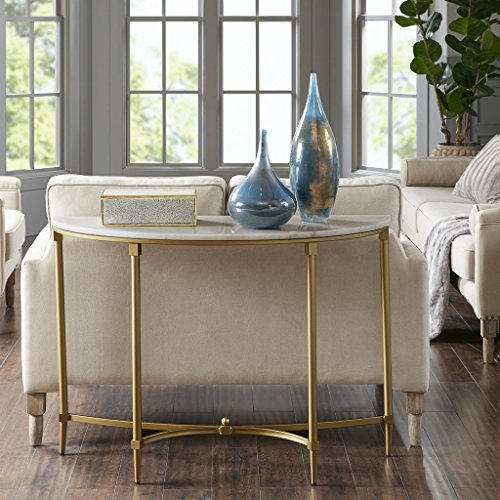 Bordeaux Console Table White/Gold See Below