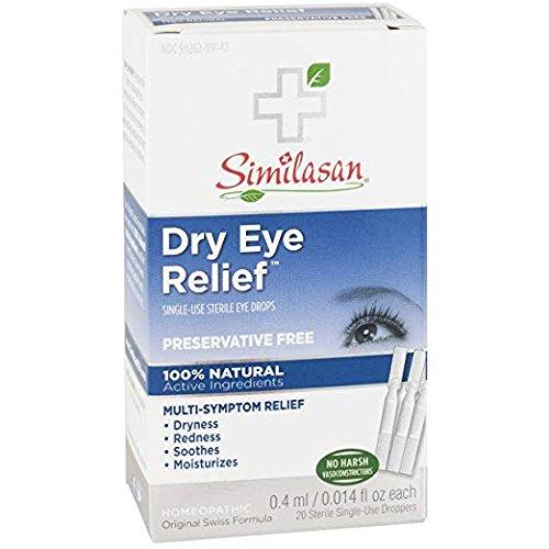 Similasan, Dry Eye Relief, Single-Use Sterile Eye Drops, 2Pack 20 Sterile 0.014 fl oz (0.4 ml) Each