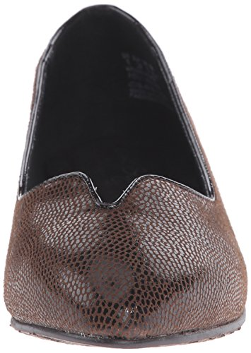 Brown Dillian Ballet Puppies Suave Flat Hush Lizard por Dark Estilo qqgRU