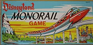 Disneyland MONORAIL Game. 1960 by Hasbro, Parker Brothers, East Longmeadow, MA. Walt Disney Parks and Resorts, Lake Buena Vista, FL. One of a set of four games that includes MONORAIL, RIVERBOAT, FANTASYLAND, and ADVENTURELAND. Ages 6 .