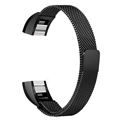 Abeky Fitbit Alta Band,Fitbit Alta HR Bands,Abeky Milanese Loop Stainless  Steel Metal Replacement Bracelet Strap Wristbands with Magnetic Clasp