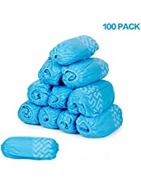 Shoe Covers Little World Disposable Hygienic Boot Cover 50 Pairs Non-Slip for Laboratory Medical Construction Workplace Indoor Carpet Floor Protection(100 Pack)