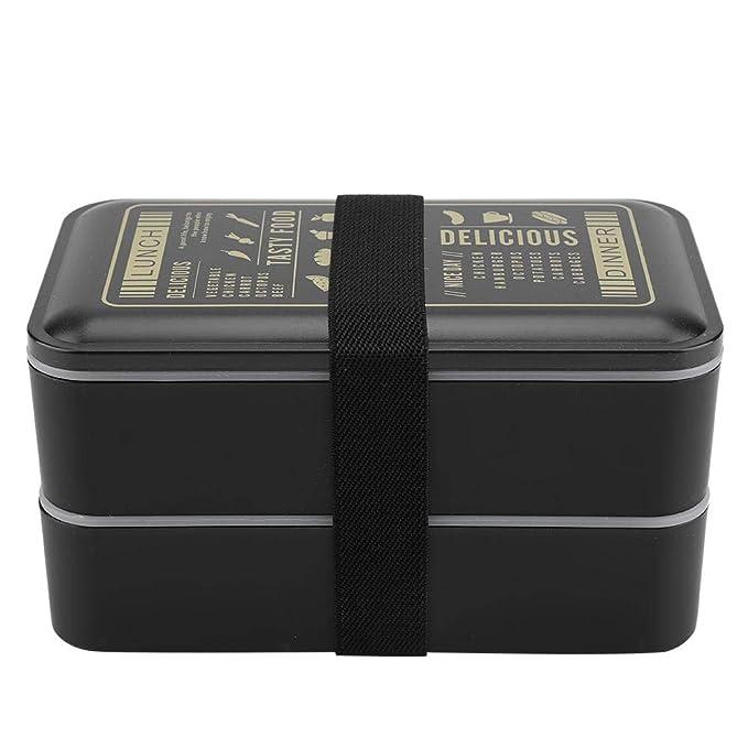 caja almuerzo 2 Capas Lunchbox microondas caja fuerte Bento Box ...