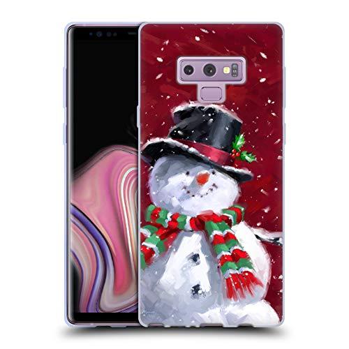 Official The Macneil Studio Snowman's Face Winter Wonderland Soft Gel Case for Samsung Galaxy Note9 / Note 9
