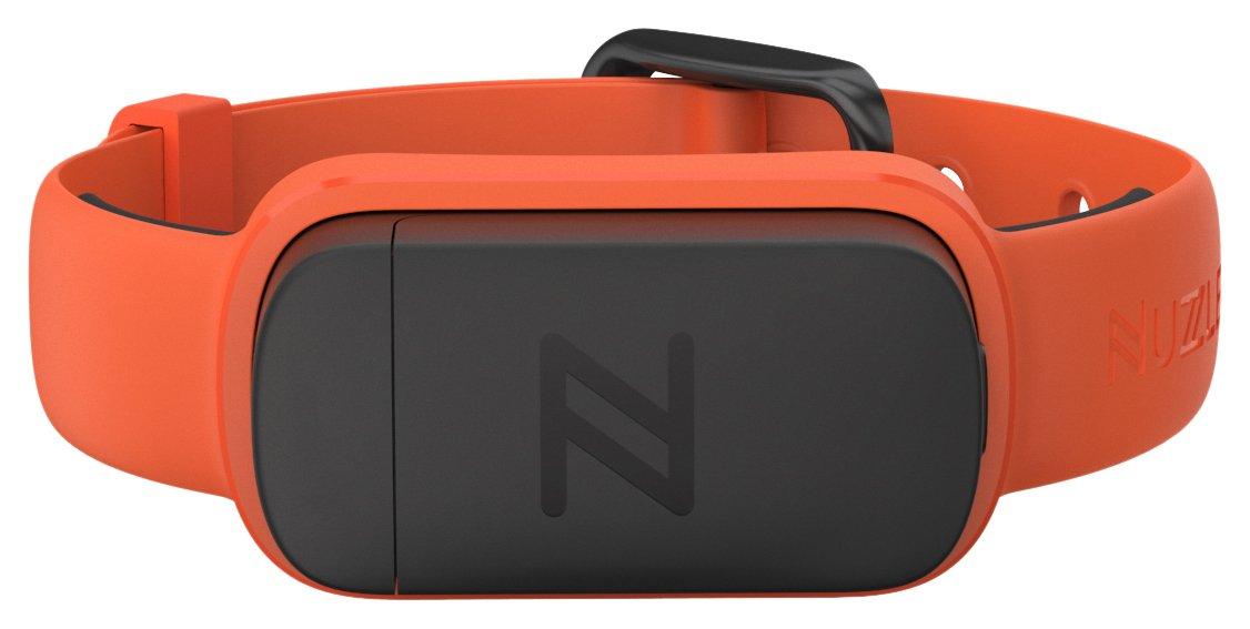 Nuzzle Pet Activity and GPS Tracker 5/8''W Collar, Orange