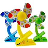 Flexible Clip On Mini Fan Neck Allows Blowing In Different Directions And Angles Trong Clip, Can Be Used Strollers