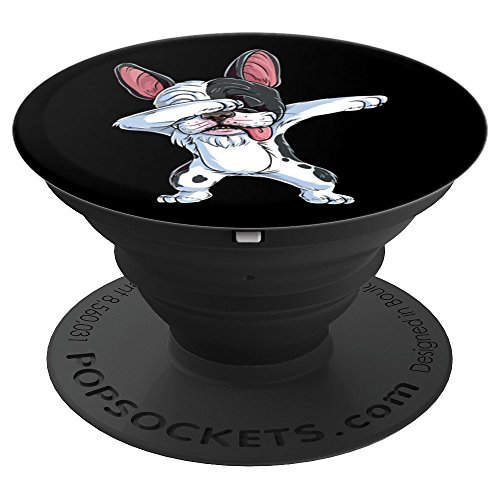Dabbing French Bulldog Funny Men Dab Dance Puppy Lovers Gift - PopSockets Grip and Stand for Phones and Tablets