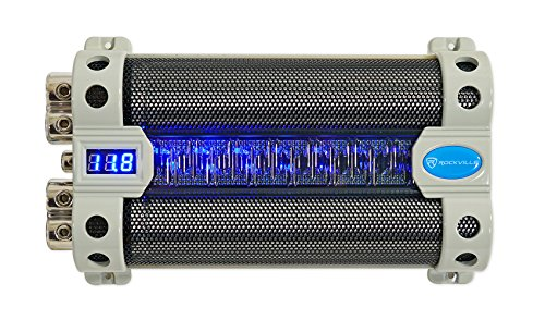 Rockville RFC50F 50 Farad Capacitor Blue Voltage Display ()