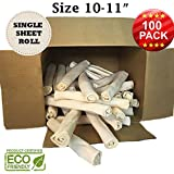 Premium Retriever Rolls - Size 10''-11'' - 100 Pack - 100% Natural - USDA/FDA Approved