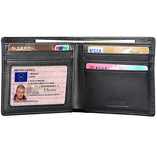 Mens Slim Leather Wallet RFID SAFE Contactless Card Blocking ID Protection 94
