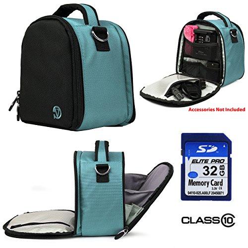 Laurel Travel Camera Bag Case For Canon EOS 20D, 300D, 30D, 350D (Rebel Kiss) DSLR Camera + 32GB Class 10 SD Card