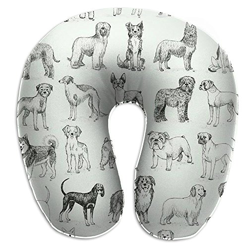 Dog Club U Neck Pillow Travel Neck Pillow Support On A Train, Airplane, Car, Bus Or While Camping