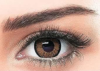 Bella Cosmetic Contact Lenses HighLight, Color, Circle Brown, Power, Plano, BHCIB